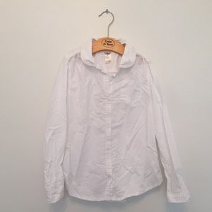 🌟 3 for $10 - Sz 7 White Button Up Shirt